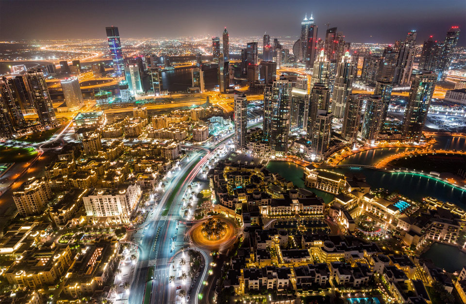 City lights, Dubai