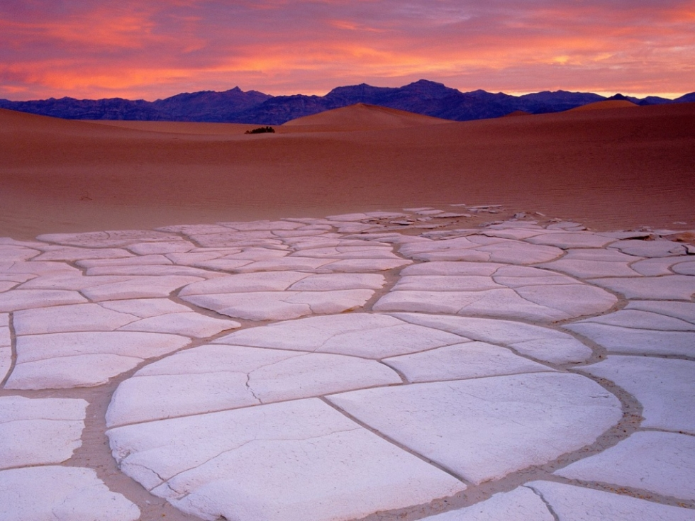 Clay Formations in Dunes, Death Valley, California