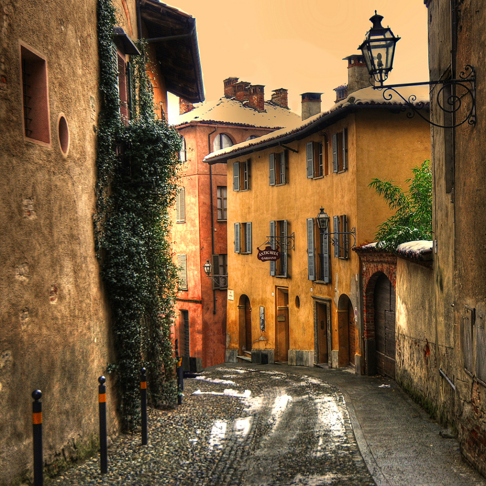 Old town of Saluzzo, Piedmont, Italy