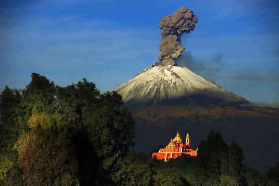 Popocatepetl, the most active volcano in Mexico
