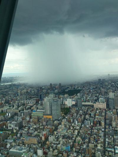 Raining over Tokyo, Japan