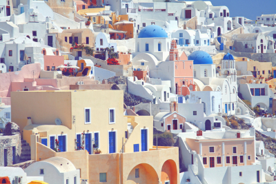 Sunny Seaside Santorini, Greece