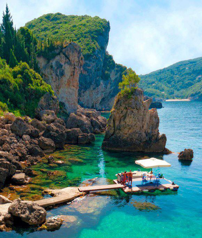 La grotta cove corfu island greece photo on sunsurfer Small islands around the world