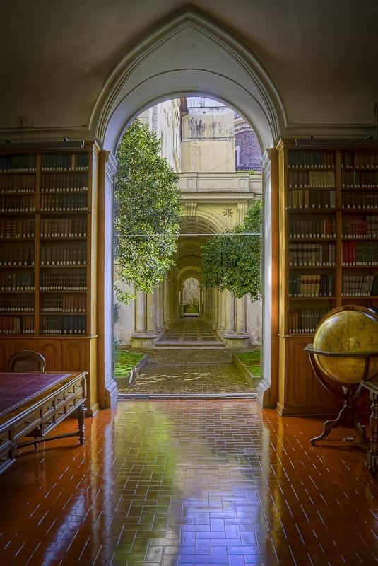 Library, Palazzo Spada, Rome, Italy