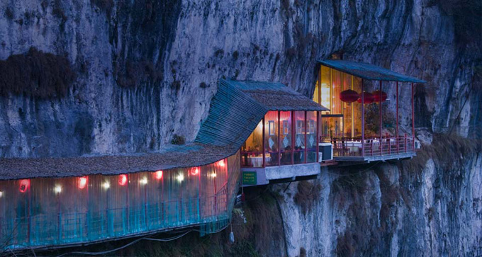 Restaurant near Sanyou Cave, Hubei, China