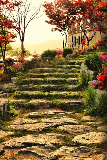 Stone Pathway, Bomunho Lake, South Korea