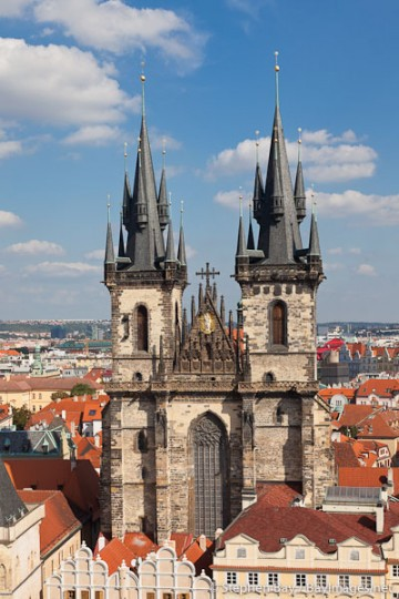 Tyn Church. Prague, Czech Republic.