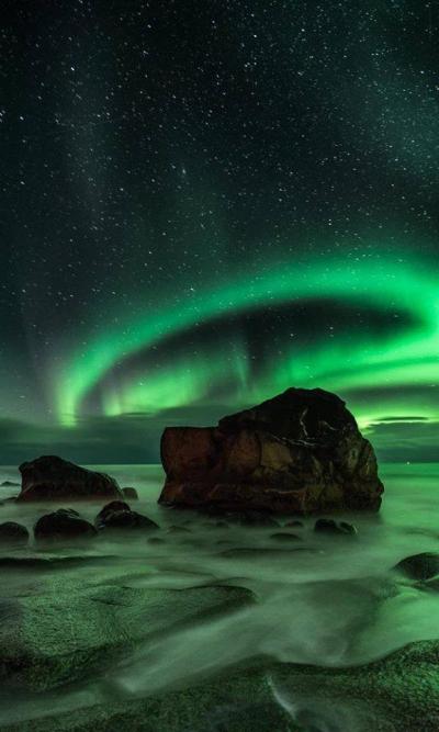 The Northern Lights over Uttakleiv, Northern Norway