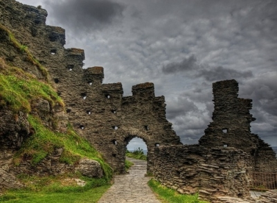 Tintagel Castle ruins, Cornwall, England