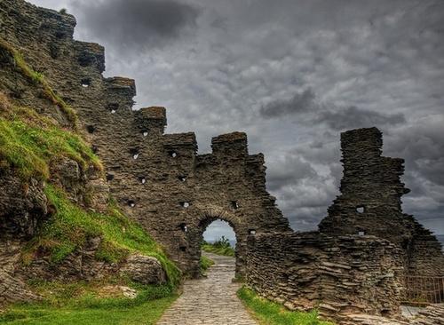 Tintagel Castle ruins, Cornwall, England