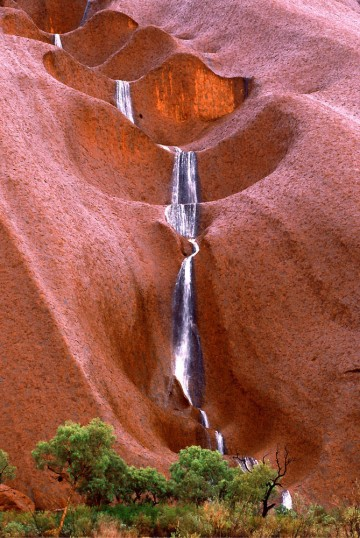 Waterfall at Uluru