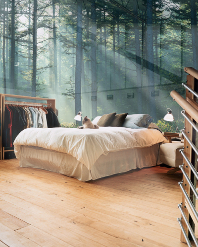 Glass Wall Bedroom, Sweden