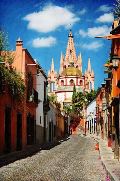 La Parroquia in San Miguel de Allende, Mexico