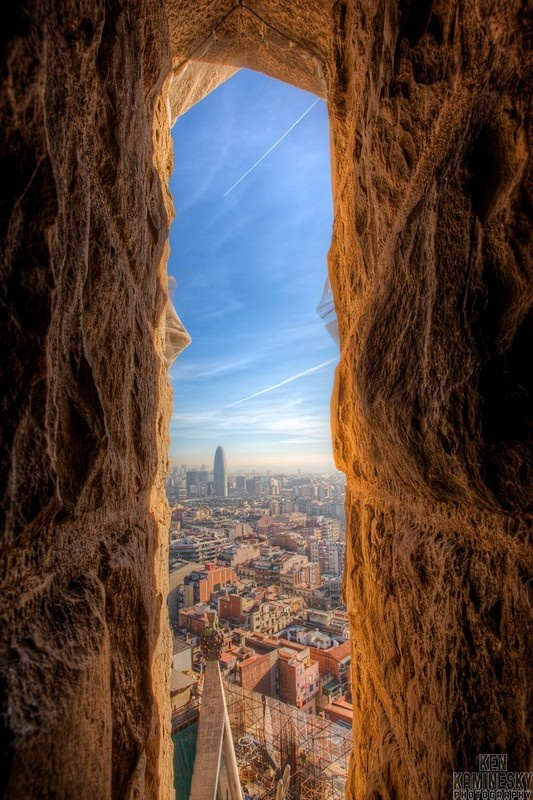 Sagrada Familia view, Barcelona, Spain