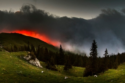 Before sunrise, Rarău Mountains, Romania