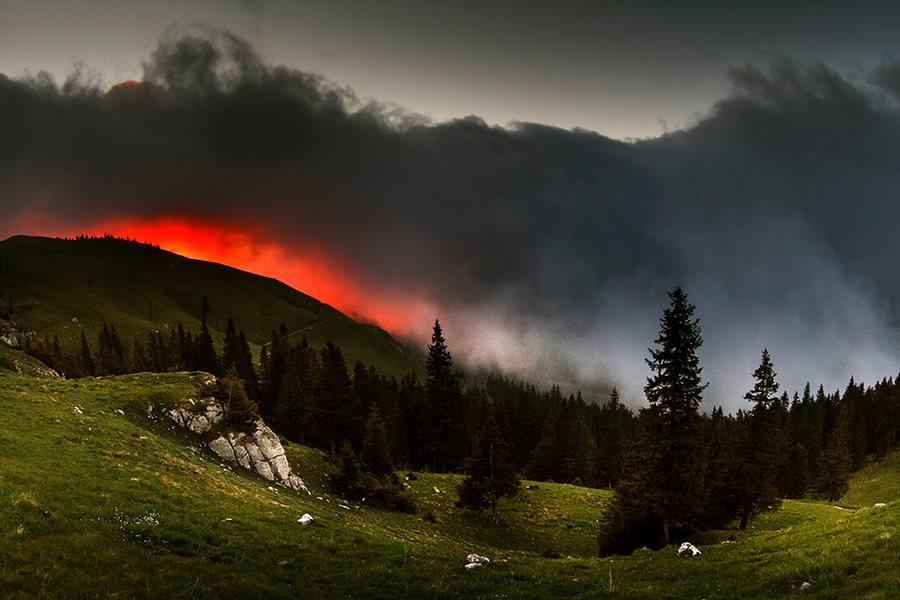 Before sunrise, Rarău Mountains, Romania