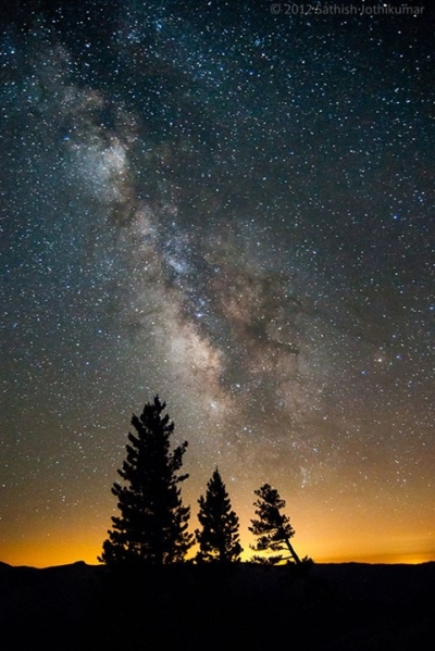 The Milky Way over Yosemite National Park, USA
