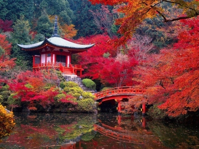 Daigo Ji Temple in Autumn, Kyoto, Japan