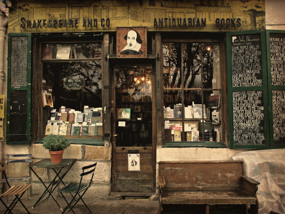 Shakespeare and Co. Antiquarian Bookshop, Paris, France