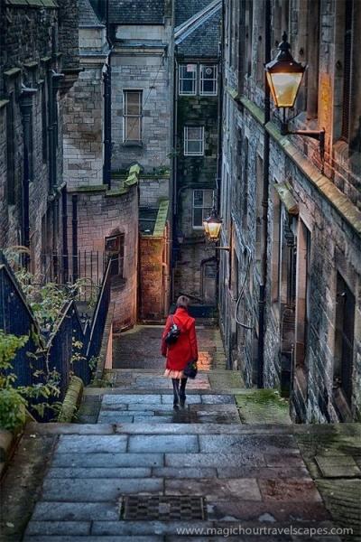 Stairway, Edinburgh, Scotland