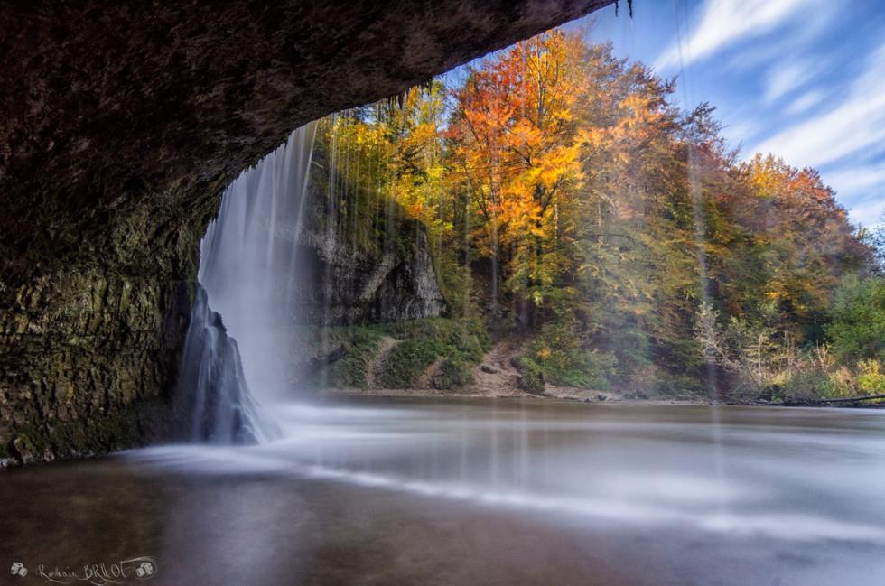 Behind The Falls, Bonlieu, Franche-Comte, France