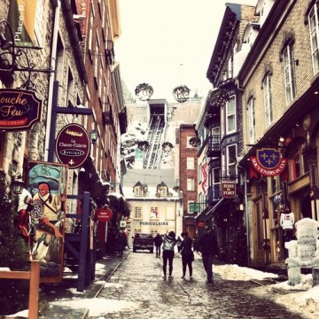 Winter in the old city of Quebec, Canada