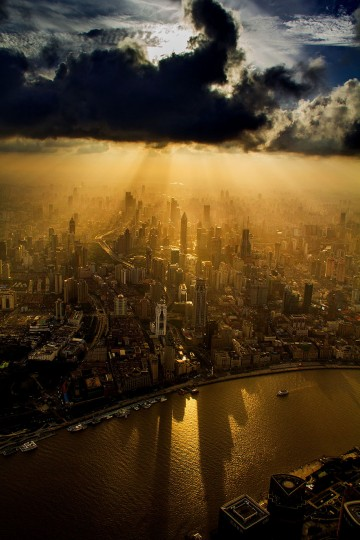 Stunning aerial photography of Shanghai