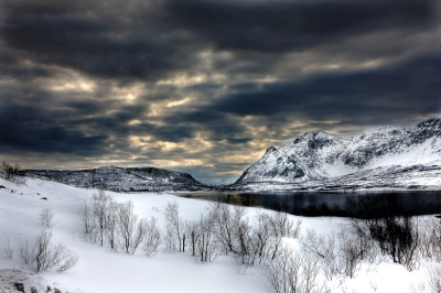 Norway fjords in winter