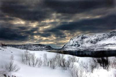 Norway fjords in winter