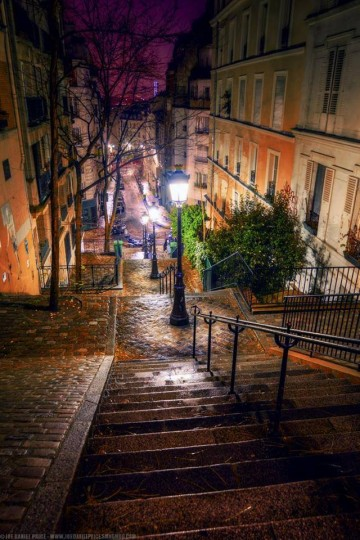 Steps at Montmartre, Paris