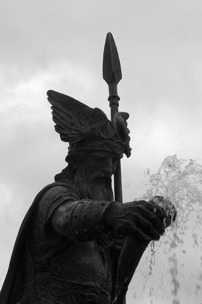 Fountain with Wotan, Thale, Germany