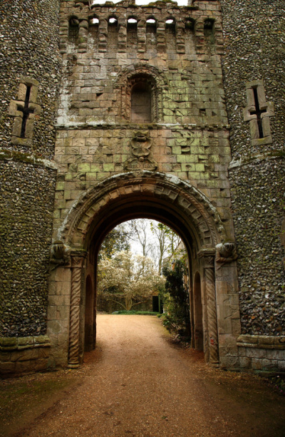 Medieval Castle Gate, Bennington, England