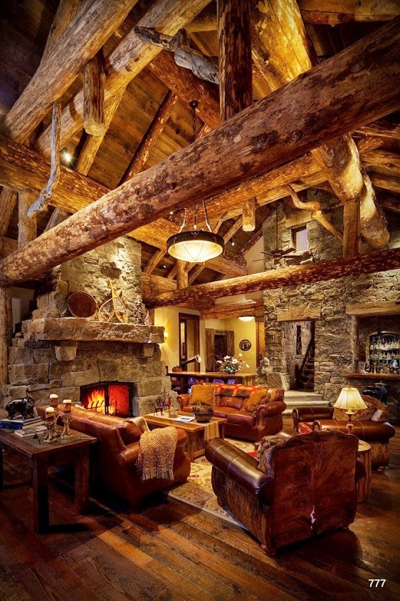 Amazing log cabin interior