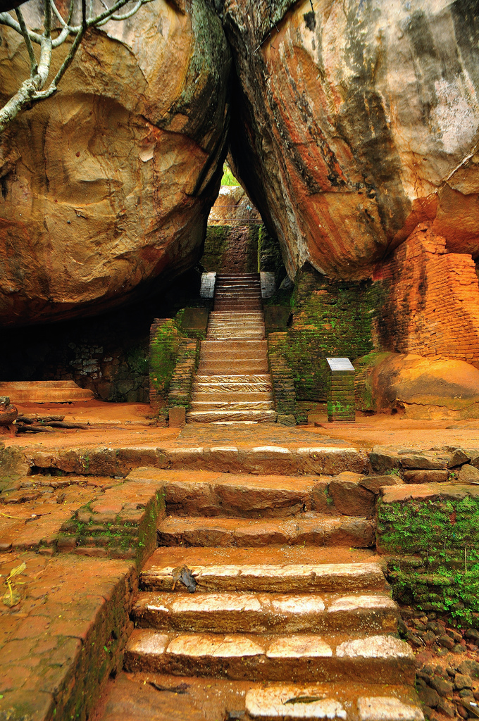 Rock tunnel, Sigiriya, Sri Lanka
