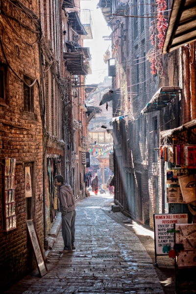 Alley in Bhaktapur, Nepal