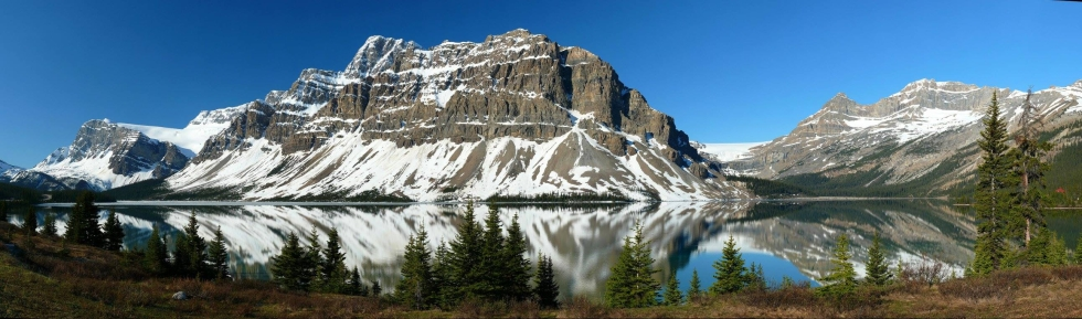 Bow Lake, Crowfoot Mountain, Canadian Rockies