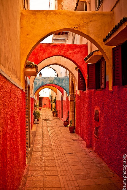 Colorful passageway in the Old Medina, Rabat, Morocco