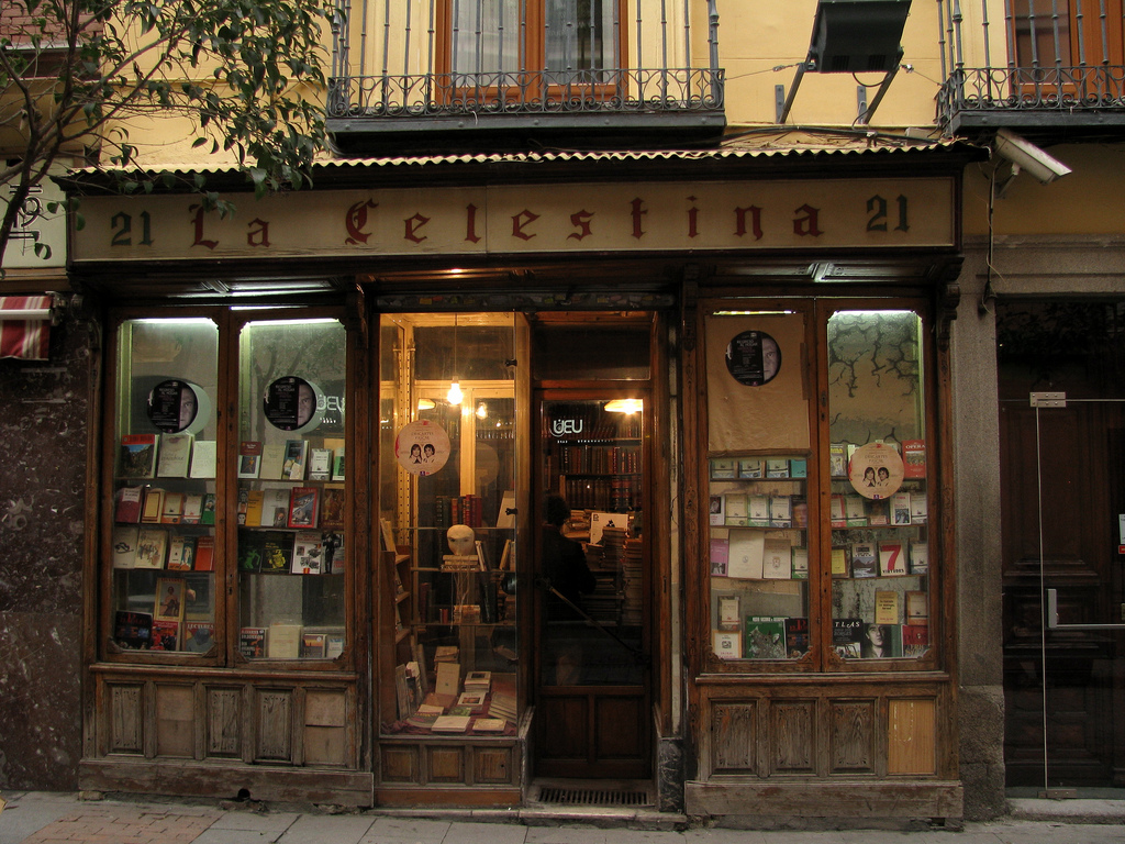 la celestina book shop  madrid  spain photo on sunsurfer