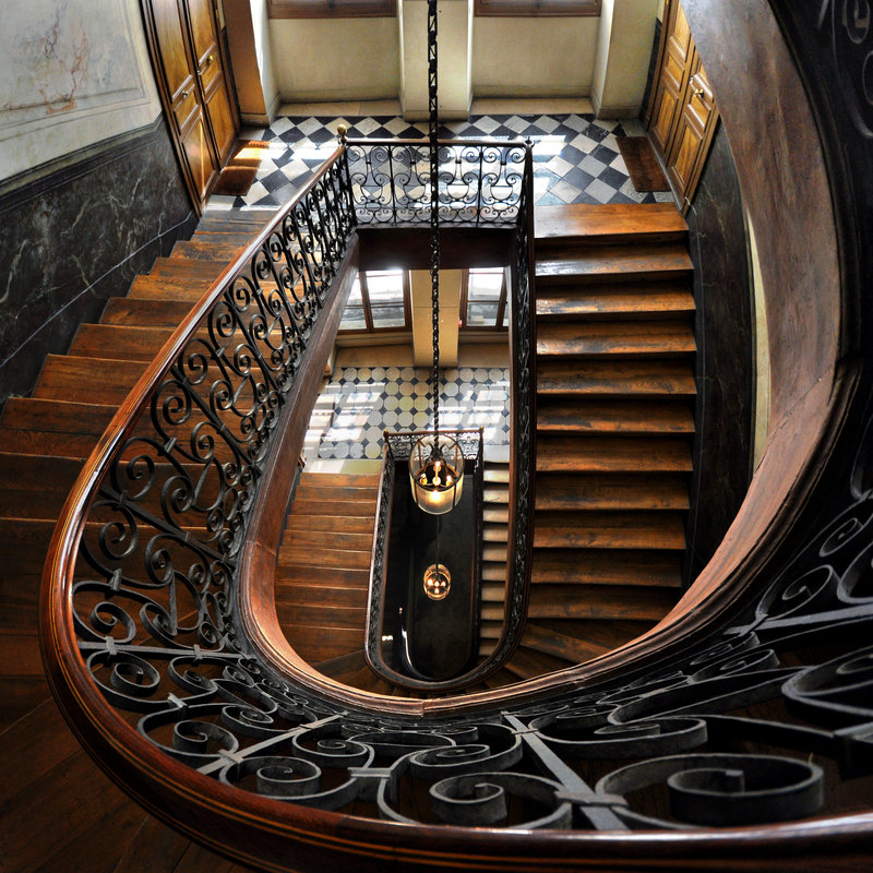 Stairway, Galerie Vivienne, Paris, France