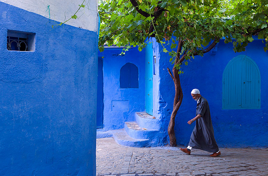 Chefchaouen, Morocco – an old town covered in blue paint