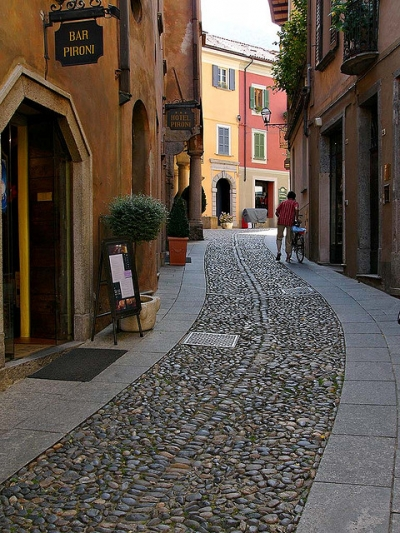 Old street in Cannobio, Italy