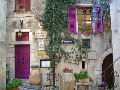Purple accent in Provence, France