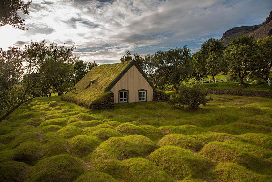 House in Hofskirkja, Iceland