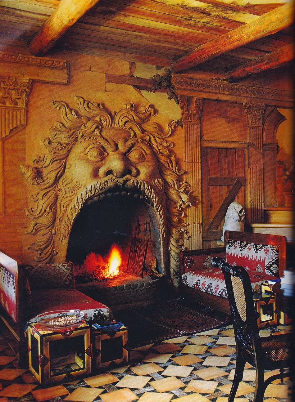 Country House Fireplace Tuscany Italy Photo On Sunsurfer