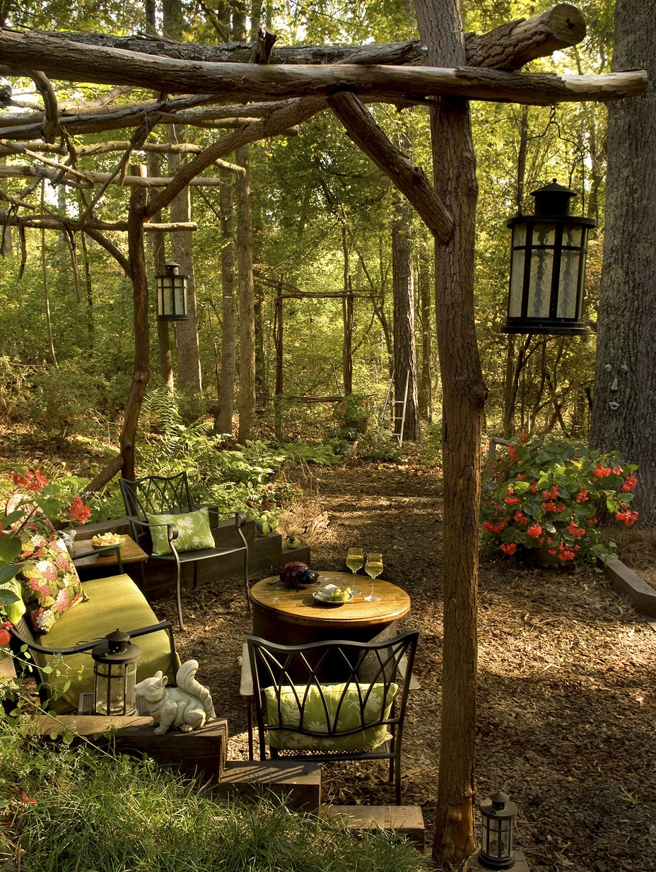 Forest patio, Georgia, USA