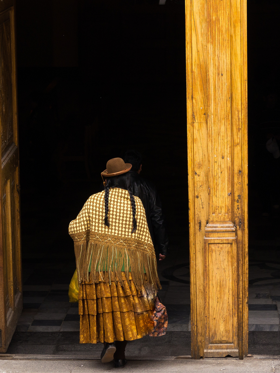 Old woman going to church, Arequipa, Peru