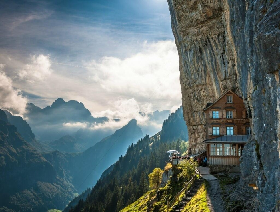Äscher Cliff, Switzerland