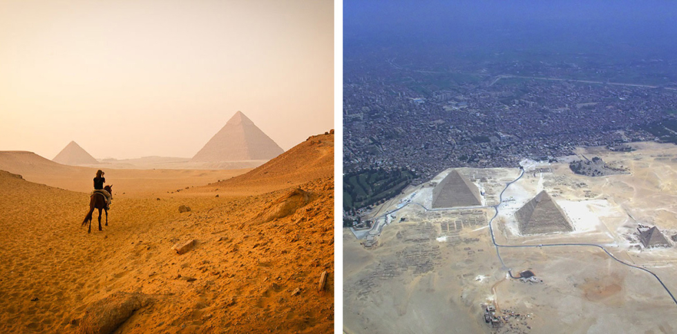15 World Famous Landmarks Photographed With Their True Surroundings!