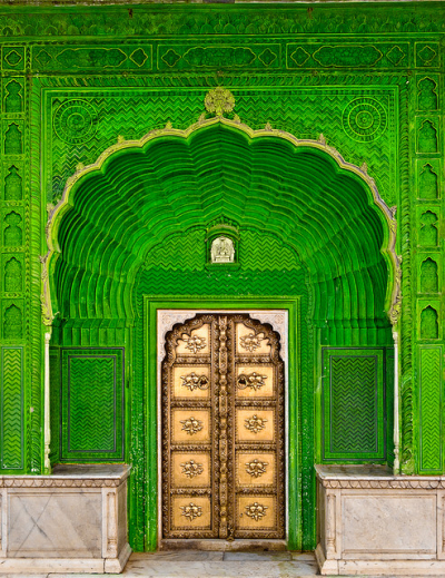 Door of Ganesh in Jaipur City Palace, India