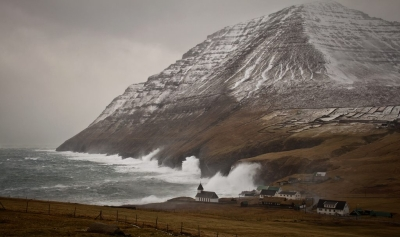 Houses on the shore, Faroe Islands